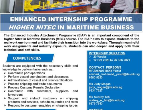 Internship for ITE College Central Maritime Business 2020