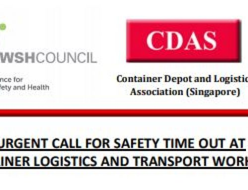 Calling for Industry Island wide Safety Time-Out (STO)
