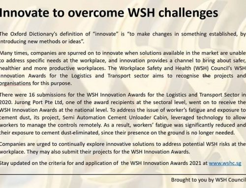 Innovate to overcome WSH challenges