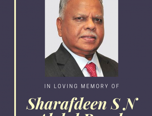 In Memory of Former CDAS President – Mr Sharafdeen S N Abdul Rasak